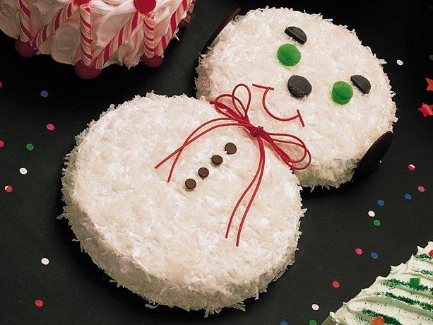 Торт Снеговик